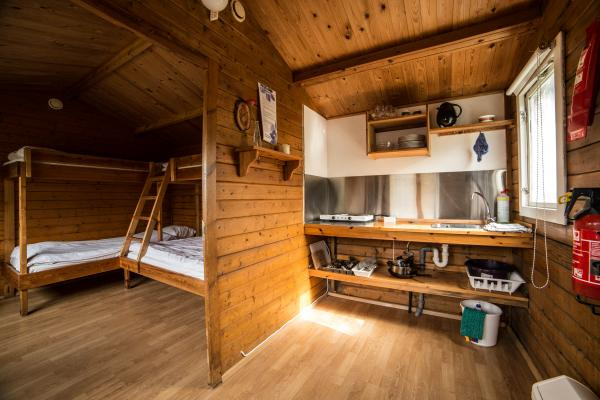 Bunkhouse accommodations with kitchenette