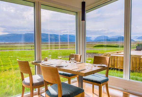Stunning views in the dining room