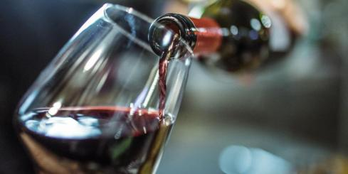 Enjoy a glass of local red wine