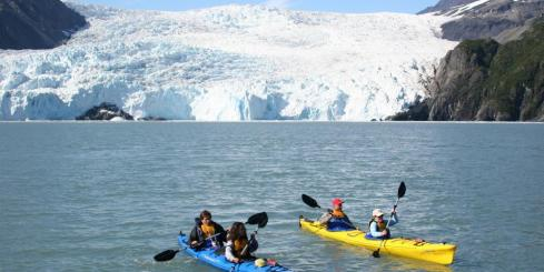 Kayaking in Aialik Bay
