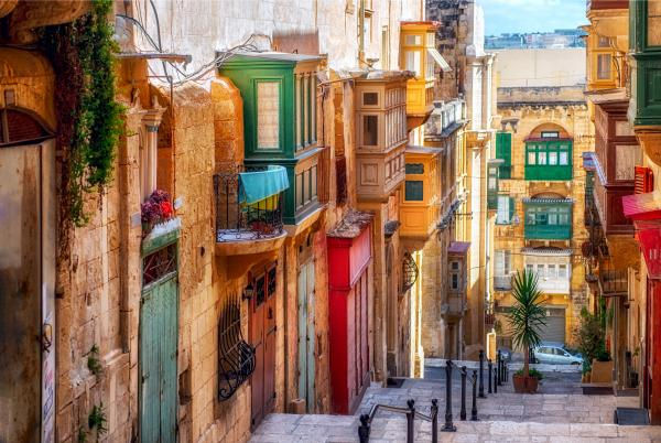Explore the colorful city of Valletta