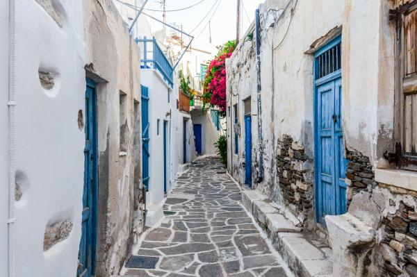 Charming streets of Mykonos, Greece