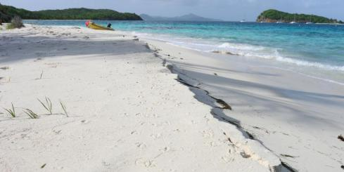 Beautiful beach, Tobago Cays