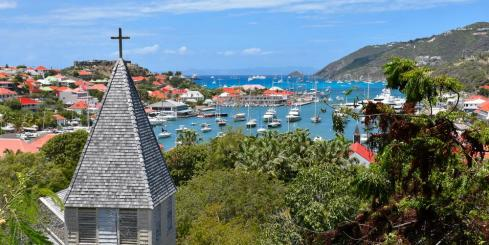 St Barts harbor view