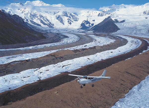Flightseeing in the Wrangell St. Elias Park