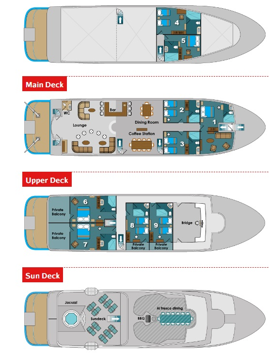 Natural Paradise deck plan