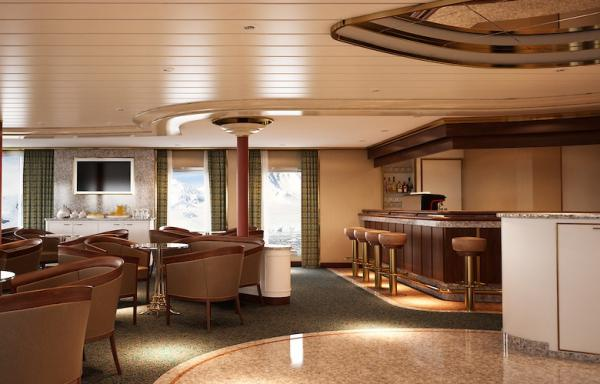 Bar and Lounge on the Silver Cloud Expedition
