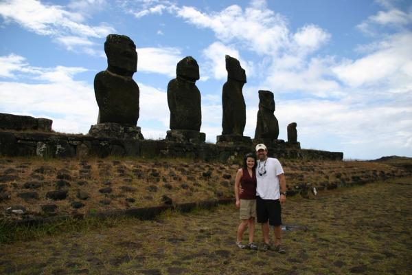 Our first Easter Island hike to Tahai and Ana Kakenga.