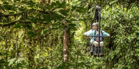 Sky bike in the rainforest