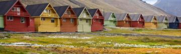 Colorful houses of Svalbard