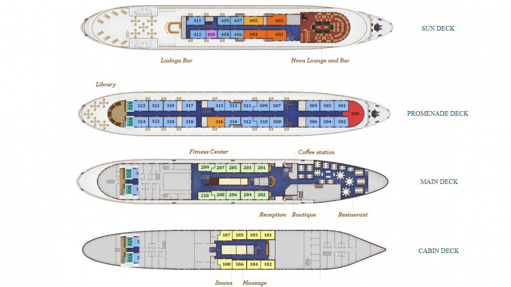 Volga Dream Deck Plan