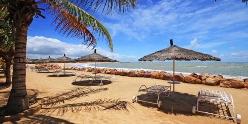 Panoramic photo of beach in Senegal