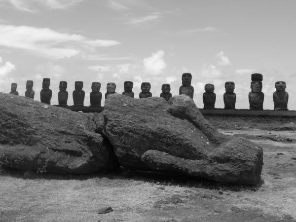 Moai At Rest-Ahu Tongariki