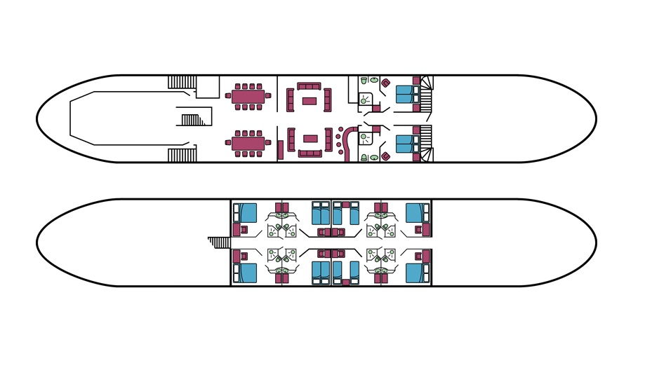 La Bella Vita, Deck Plan