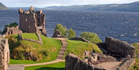 Urquhart Castle in the Scottish highlands
