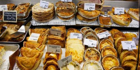 Pastries at Les Halles Market in Dijon, France