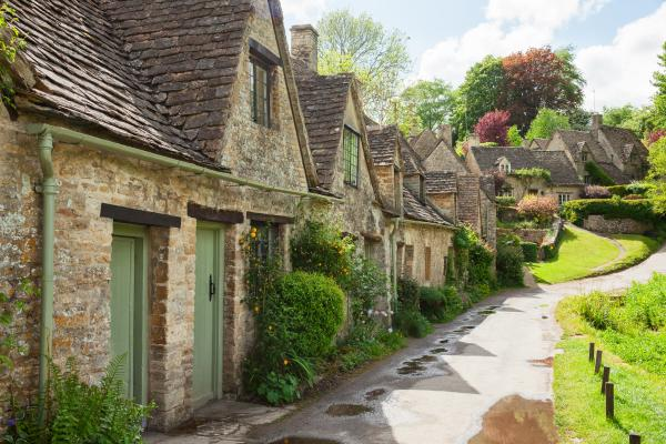 Traditional cottages in England
