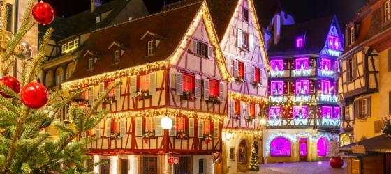 Christmas in old town of Colmar, Alsace