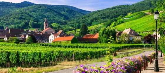 Village in Alsace region