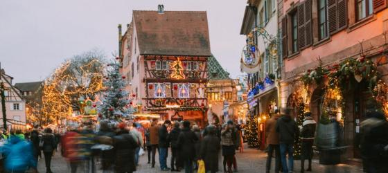 Christmas in Colmar in Alsace district