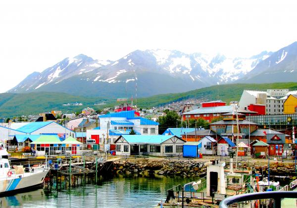 Colorful houses of Ushuaia