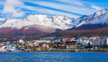 The port town of Ushuaia
