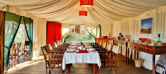Dining tent at Lemala Ngorongoro