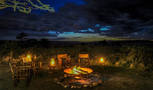 Campfire at Lemala Ngorongoro
