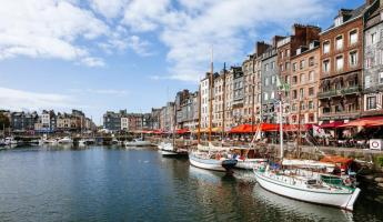 The charming Honfleur old dock