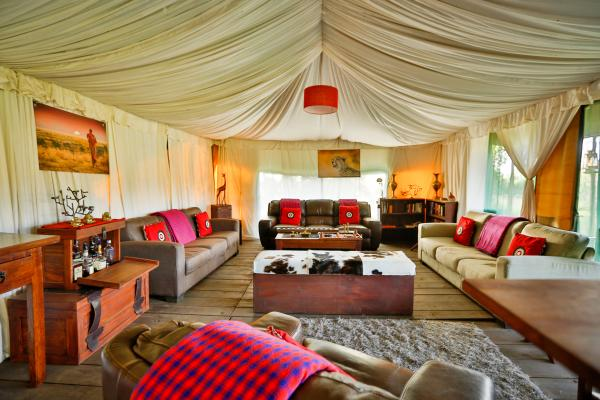 Lounge at Lemala Ngorongoro Lodge