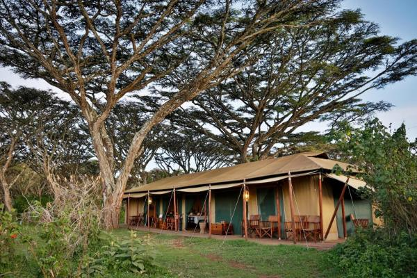 Canvas tents at Lemala Ngorongoro Lodge