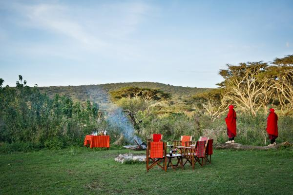Evening campfire at Lemala Ngorongoro Lodge