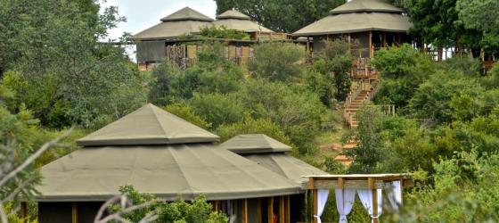 Simbavati's hilltop cabanas offer plenty of privacy