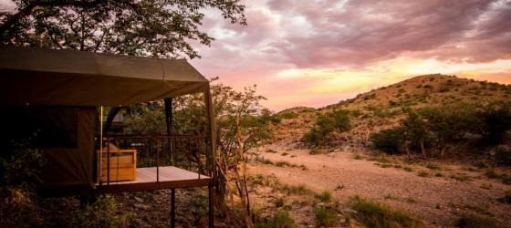 Spectacular sunrises are the norm at //Huab Under Canvas