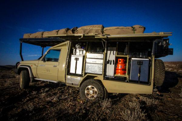 Your safari vehicle is outfitted with all the fixings