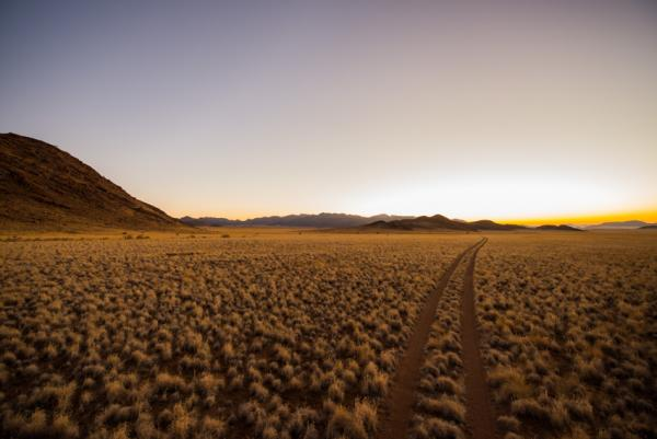 Namibia's Namib Desert stretches as far as the eye can see