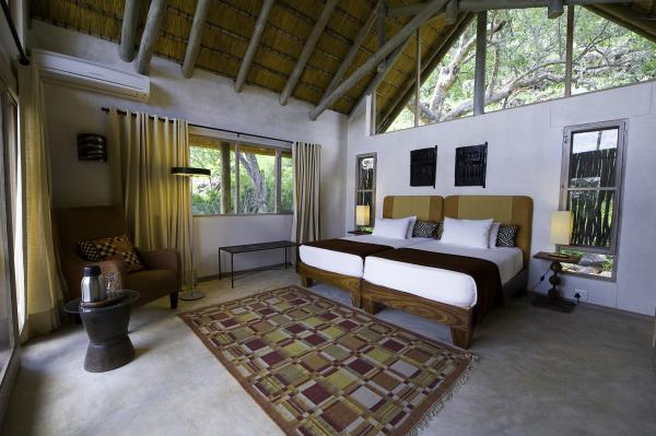The bedrooms at Ongava Lodge are spacious and built for extreme temperatures