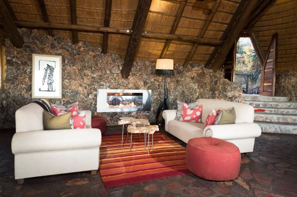 Relax in Ongava's bright and welcoming common areas