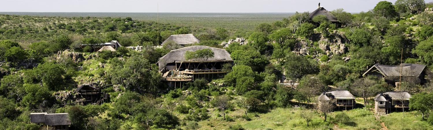 Aerial view of Ongava Lodge