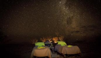 Spend the evening camping under the stars