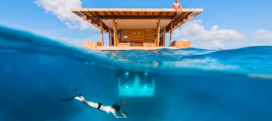 Take a dip outside the Underwater Room
