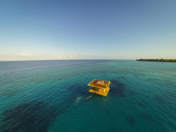 Immerse yourself in Pemba Island's coastal life at the Underwater Room