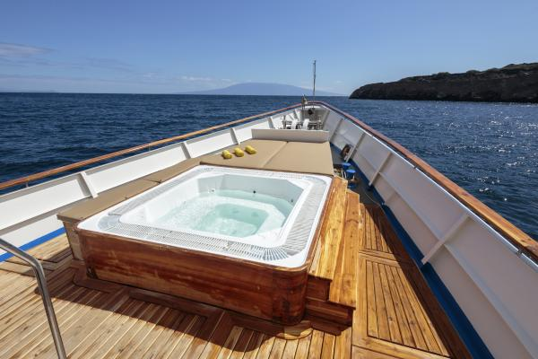 Soak in the jacuzzi on the sun deck