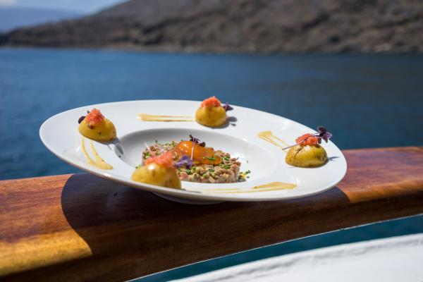 Enjoy incredible gastronomy on board