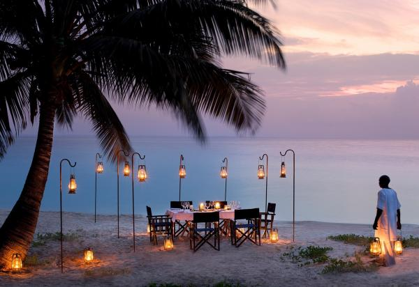 Dinner by the Indian Ocean