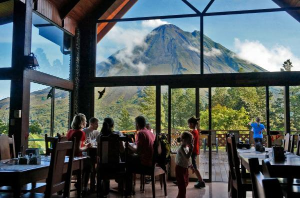 Stunning views from the Restaurant, Arenal Observatory Lodge