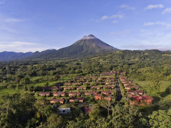 Aerial views of the Arenal Springs Hotel