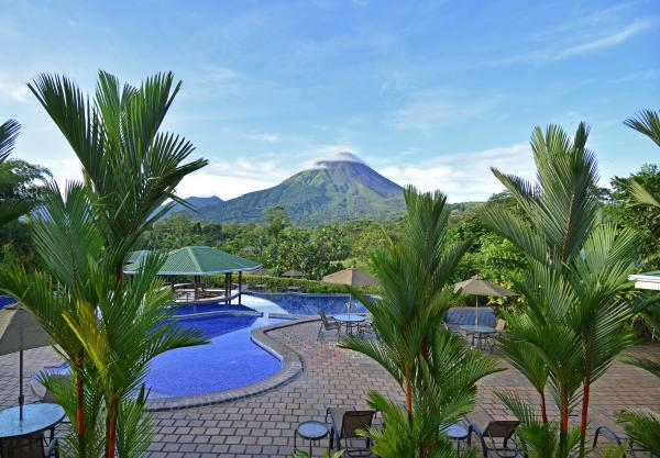 Sit back and enjoy the beauty of the Hotel Arenal Manoa
