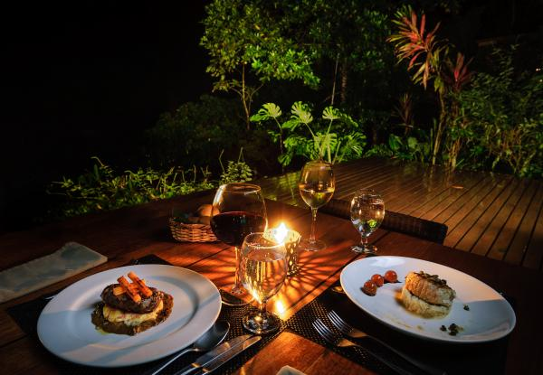 Romantic dinner in the Jungle at the Pacuare Lodge