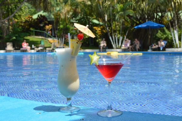 Enjoy a drink by the pool